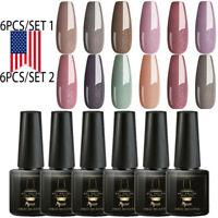 Mtssii 6pcs Gel Polish Set UV Semi Permanent Soak Off Varnish Nail Art Manicure