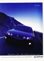 1996 Lexus SC400 Coupe Original 2-page Advertisement Print Art Car Ad J806