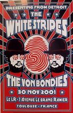 White Stripes   Toulouse France   Art by Dennis Loren   Orig. 2001 Poster