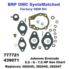 Johnson Evinrude BRP Carburetor Carb Kit 5.5 - 6 - 7.5 HP 439071 See Chart
