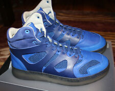 Puma Mens McQ Alexander McQueen Blue Leather High-Top Sneakers Shoes Size 10