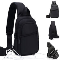 Water Resistant Sling Backpack Rucksack Chest Pack Single Strap Daypack Bag