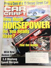 Car Craft Magazine How Much Horsepower Do You Have November 1999 050317nonr