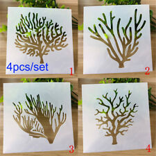 Stamp Wall Painting Trees Embossing Template Layering Stencils Scrapbooking