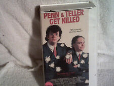 Pen and Teller Get Killed 1989  Comedy VHS B-Movie Cult Feature NTSC Magic