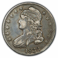 1832 50c Capped Bust Half Dollar - VF+ Coin - SKU-H1041