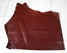 L259 Lederhaut Rindleder Rest rot-braun Krokolook Lack Vintage 0,63 qm Schuhe