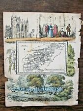 1845 Map Northamptonshire Reuben Rambles Antique Map Peterborough Childrens RARE