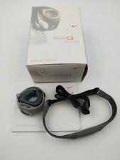 Nike Triax C3 Gray Watch SM0013-006 w/ Heart Monitor Chest Strap SMA007 A5
