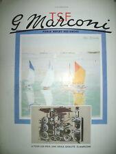PUBLICITE DE PRESSE MARCONI TSF ILLUSTRATION GIRARD VOILIERS FRENCH AD 1937