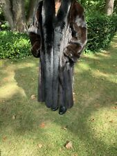 Full Lenght Mink Coat With Fox Collar