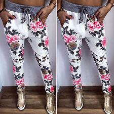 Womens Casual Jogger Dance Harem Sport Long Pants Slacks Trousers Sweatpants US