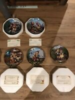 "5 - Danbury Mint MJ Hummel Little Companions Collector Plates - 8"" SHIPS FREE"