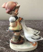 Vintage Goebel Hummel Figurine Goose Girl 473/0 West Germany Circa 1958