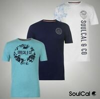 Mens SoulCal Fashion Crew T Shirt Short Sleeves Top Sizes from S to XXL