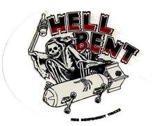 CARRELLI indipendenti-Hell Bent Skateboard Adesivo-skate SURF SNOW BMX CHITARRA
