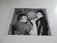 DARTS LEGEND BOBBY GEORGE SIGNED REPRINT PHOTOGRAPH WITH JOCKY WILSON