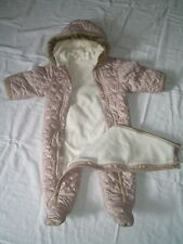 GIRL'S NEXT 3-6 months snowsuit great used condition