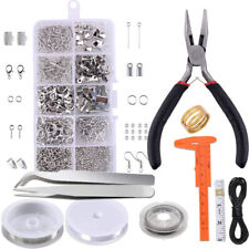 Wire Jewelry Making Starter Kit Sterling Silver and Repair Tools Craft Supplies.