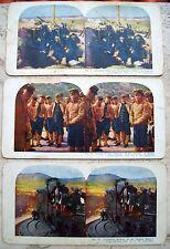 1905 GUERRA RUSSO GIAPPONESE IN MANCIURIA LOTTO 3 FOTO STEREOSCOPICHE ORIGINALI