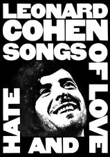 Leonard Cohen SONGS OF LOVE AND HATE 23.5 x 33.5 Singer/Songwriter LARGE POSTER