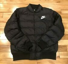 Nike NSW Down Fill Bomber Jacket Black 928819 010 Men's LARGE NWT