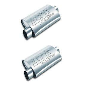 """Borla 40665 Set of 2 ProXS 24"""" Oval Mufflers with 2.5"""" Center In/Offset Out"""