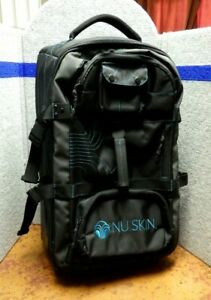 Nu Skin Roller Ball Carry On Suitcase Luggage Black With Blue    LYL