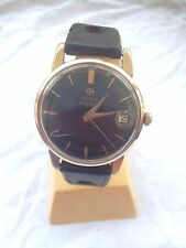 Vintage Zodiac DALOGRAPHE Wirst Watch Automatic montre gold plated OR plaque