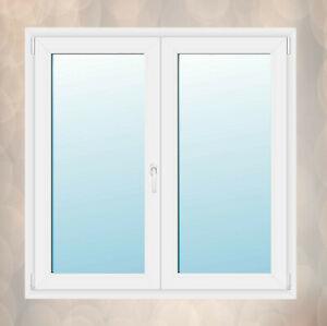 2-flügliges Kunststofffenster Stulpfenster Fenster Weiß Dreh Dreh-Kipp 3 fach V