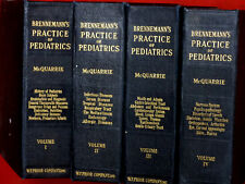 1948 Brennemann's ~ PRACTICE OF PEDIATRICS ~  4 VOLUMES / ILLUSTRATED