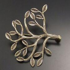 02772 Vintage Style Bronze Tone Brass Tree Pin Brooch Jewelry Finding 36mm 4pcs