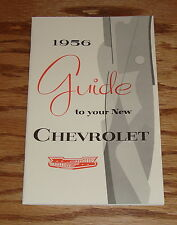 1956 Chevrolet Owners Operators Manual 56 Chevy
