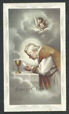 Estampa antigua del Papa Pio X andachtsbild santino holy card santini