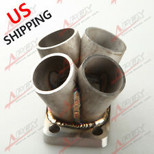 4-1 4 Cylinder Manifold Header Collector Stainless Steel T3 T3/T4 Flange US