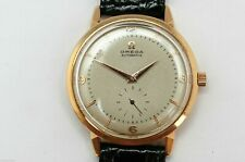 Vintage Omega Automatic Men's Watch Ref. 2714 Oversize 38mm in 18K Gold