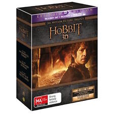 The HOBBIT 3D TRILOGY 1 2 3 : Extended Edition : NEW Blu-Ray