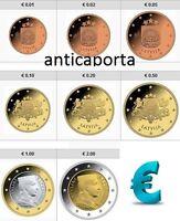 Serie Lettonia 2014 in BLISTER 8 MONETE EURO Collezione Completa