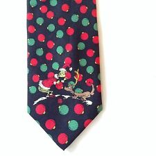 Grinch Christmas Dr Seuss 100% Silk Mens Neck Tie Max Dog Red Green Ornaments