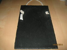 Large slate memo chalk board message board shopping list chalk gift bag 50x 35cm