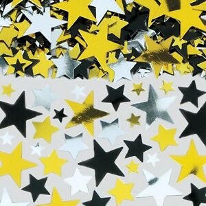 Large bag Gold silver black STARS table confetti Hollywood Movie Party