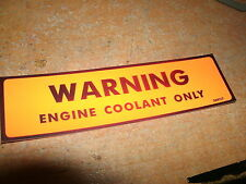 1974 1975 1976 1977 CHEVROLET CORVETTE CAMARO NOVA ENGINE COOLANT WARNING DECAL