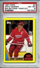 1987 Topps Hockey Steve Yzerman #C Box Bottom PSA 8 Super RARE Detroit Red Wings