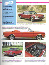 1963 Chevy + Corvair + Impala SS + 409 + Convertible + Corvette Article Must See