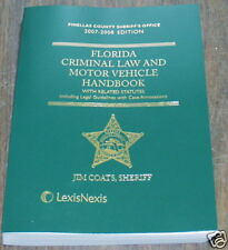 Florida Criminal Law and Motor Vehicle Handbook 2007-08 NEW old stock