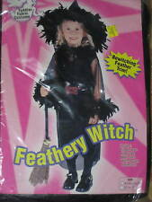 FEATHERY WITCH CHILD HALLOWEEN COSTUME 24 month-2T NEW