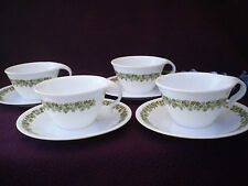 Corelle Dishes Spring Blossom Open Handled Cups And Saucers 4 Sets