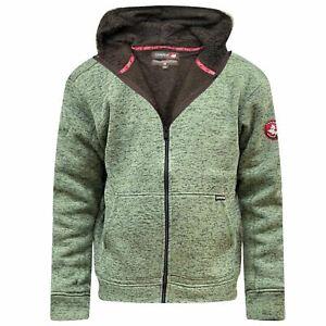CANADA by M&S Mens Sherpa Fleece Lined Heavy Fleece Warm Hiking Hooded Jacket