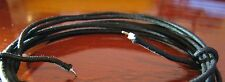 7 Feet - Vintage Guitar Black Cotton Push Back Wire w/ AWG #22 Tinned Copper