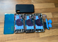 NEW IPHONE XS REPLACEMENT BACK REAR HOUSING & FRAME WITH PARTS UK SALE